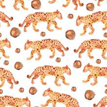 Leopard Pattern, Modern Digital Paper, Textile Design, Animal Skin Seamless Pattern