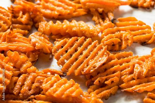 Tablou Canvas Homemade Sweet Potatoe Waffle Fries