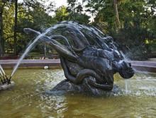Fountainin In Bydgoszcz. Poland