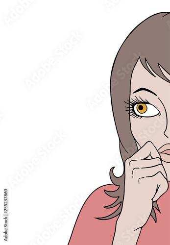 Fotografía  woman watching illustration
