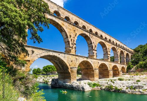 Carta da parati Nimes, France. Pont du Gard.