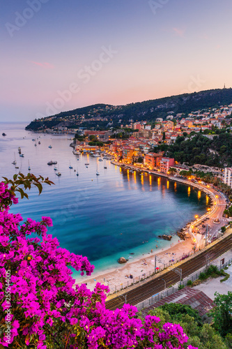 Acrylic Prints Nice Villefranche sur Mer, France. Seaside town on the French Riviera (or Côte d'Azur).