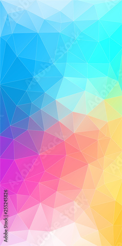 Flat vertical color geometric triangle background with grunge texture