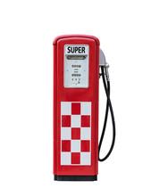 Vintage Gasoline Pump Isolated...