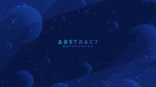 Dark Blue Abstract Background Is Suitable For Web, Header, Web Banner, Landing Page, Digital Posters, Wallpaper, Web Page Template And Others.