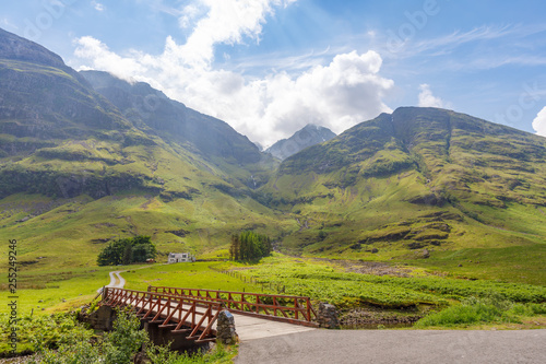 beautifull landscape near Three sisters at glencoe Wallpaper Mural
