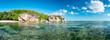 Panorama auf den Seychellen, La Digue, Afrika