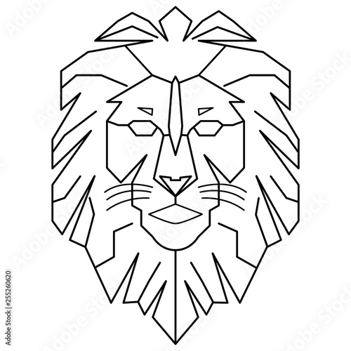 Geometric Lion Logo King Walking Line Art Outline Vector Download Buy This Stock Vector And Explore Similar Vectors At Adobe Stock Adobe Stock With its powerful and strong personality, the lion is known to be the king of the jungle. geometric lion logo king walking line