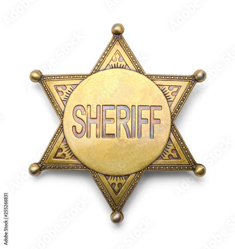 Sheriff Badge Wall mural