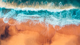 Powietrzny australijski krajobraz plaży, Great Ocean Road - 255267823