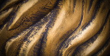 Polished Wavy Bronze Texture With Vignette. Background, Concept