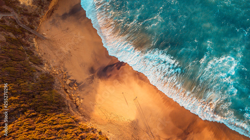 Aerial Australian Beach Landscape, Great Ocean Road