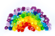 Paper Craft Flower Rainbow Color. Tolerance Of People.