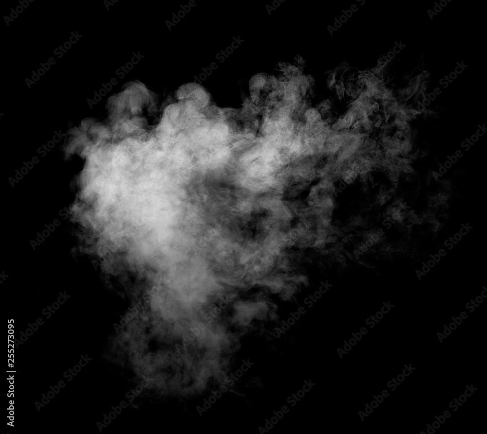 Fototapety, obrazy: smoke steam fog air background shape black