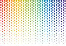 Rainbow Polka Dots Background ...