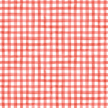 Watercolor Gingham Check Seamless Pattern