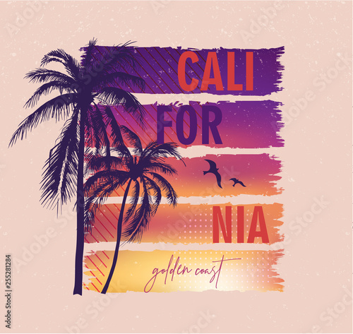 Obraz na płótnie California, golden coast