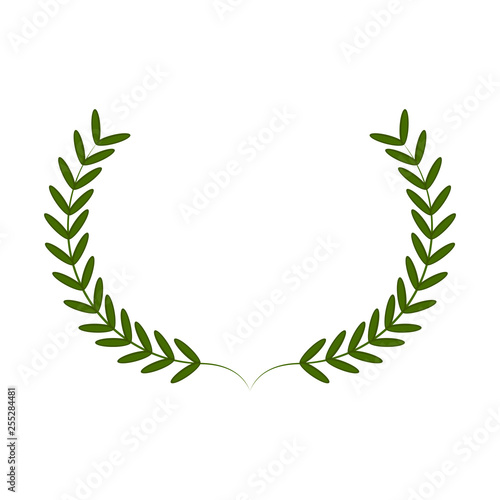 Photo  Isolated laurel wreath image. Vecor illustration design