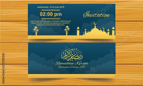 Islamic Invitation Card Buy This Stock Vector And Explore