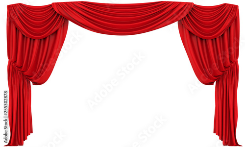 Fotomural  Red Theatre Curtain Isolated