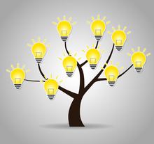 Tree And Bulb Illustration