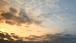 Clouds at dawn. timelapse