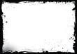 Vector blank Halloween banner background with grunge border