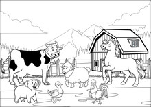 Black And White Coloring Page ...