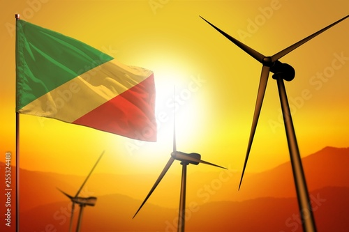 Fotografie, Obraz  Congo wind energy, alternative energy environment concept with wind turbines and