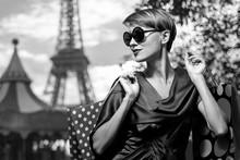 Shopping In Paris Woman