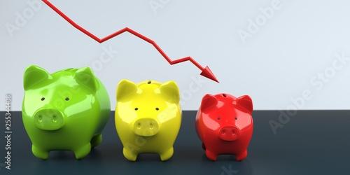 Inflation symbolische Darstellung der Geldentwertung Canvas Print