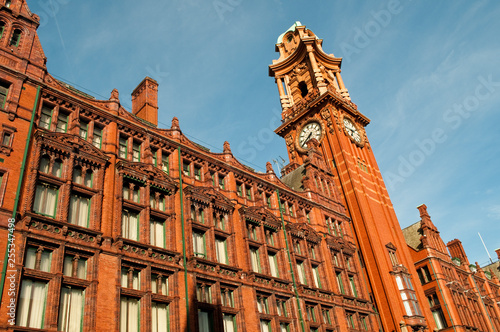 Wall Murals Northern Europe The Principal Manchester, former Palace Hotel, a red brick Victorian building, Manchester, UK