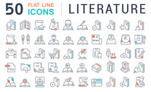 Set Vector Line Icons Of Liter...