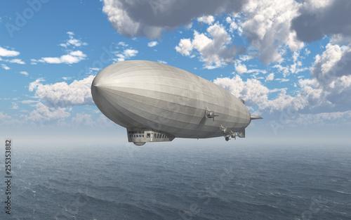 Luftschiff über dem Meer Canvas