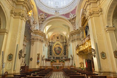 PARMA, ITALY - APRIL 17, 2018: The baroque church Chiesa di Santa Teresa.