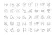 Leinwanddruck Bild - Set Vector Line Icons of Plastic Surgery.