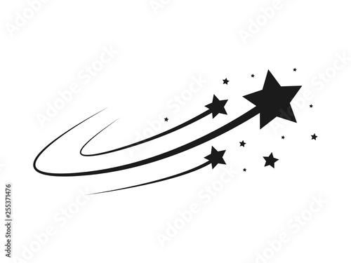 Obraz Star Silhouette of the falling of Comets, Meteorites, Asteroids, the sparks of fireworks. Vector design elements isolated on light background - fototapety do salonu