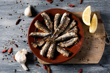 Spanish Grilled Sardines In A ...