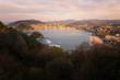 View to La Concha (Kontxa) bay from mount Igeldo at Donostia-San Sebastian, Basque Country.