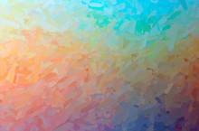 Abstract Illustration Of Brown, Orange Impressionist Impasto Background