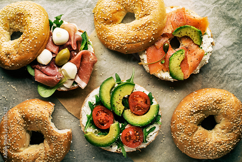 In de dag Brood Bagel sandwich healthy