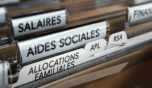 Photo Aides sociales, allocations familiales, APL et RSA