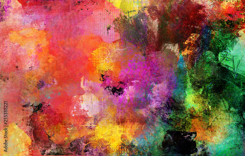 Obraz abstrakt bunt farben texturen - fototapety do salonu