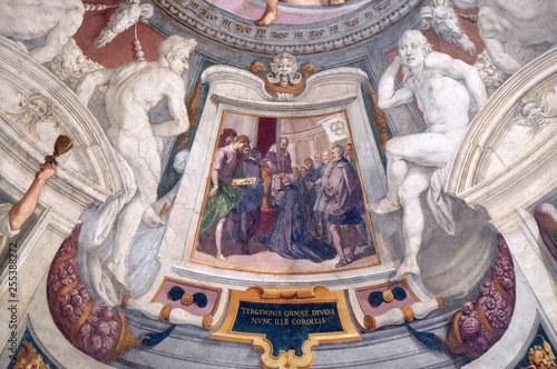 Fotografie, Tablou  Episodes of the life of Cosimo I de 'Medici fresco by Bernardino Poccetti Ospeda