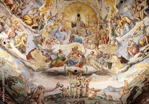 Last Judgment, fresco by Giorgio Vasari in the Cattedrale di Santa Maria del Fio Fototapeta