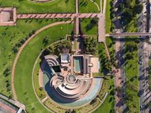 Vista Aérea De La Biblioteca Virgilio Barco En Bogotá