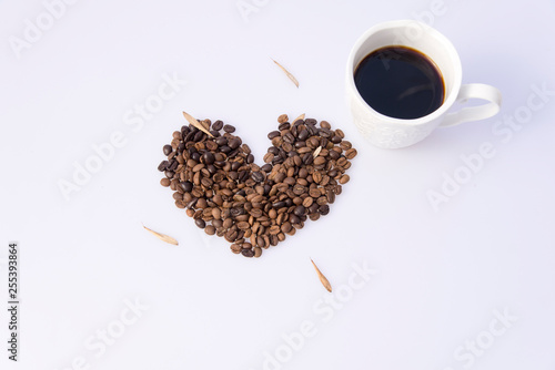 Recess Fitting Coffee bar Coffee beans and cups decoration