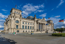 Berlin, Germany - Built In 1894 And Home Of The German Parliament, The Reichstag Building Is One Of The Most Recognaizable Landmarks In Berlin
