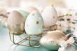 canvas print picture - Froehlich dekorierte Eier zu Ostern