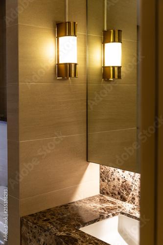 Bathroom corner in modern luxury style with natural brown ... on wood marble, wood bathroom flooring, wood luxury bedroom, wood luxury kitchens,